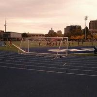 Photo taken at Varsity Stadium by Amanda D. on 9/29/2012