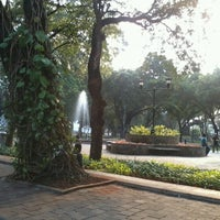 Photo taken at Taman Suropati by I M. on 10/11/2012