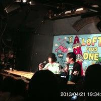 Photo taken at LOFT/PLUS ONE by san k. on 4/21/2013