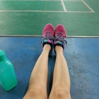 Photo taken at T Angle Sport Badminton Court by Janelle K. on 10/3/2014