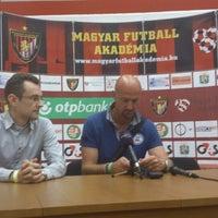 Photo taken at Bozsik Stadion sajtószoba / press room by Seweryn B. on 7/11/2013