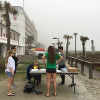 Photo taken at Jax Bch Lifeguard Station by Andie P. on 3/19/2016