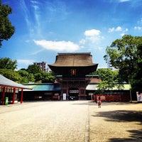 Photo taken at Hakozakigu Shrine by tomo913 on 9/26/2012