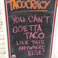 Photo taken at Tacocracy by Jonathan J. on 3/8/2014