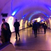 Photo taken at Metro Baixa-Chiado [AZ,VD] by Joana Rita S. on 12/7/2012