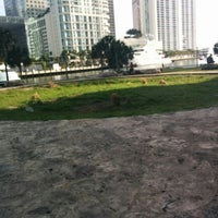 Photo taken at Miami Circle Park by Bonnie W. on 3/15/2015