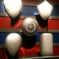 Photo taken at Captain America: The Living Legend and Symbol of Courage by Jennifer S. on 3/1/2014