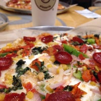 Photo taken at Pieology Pizzeria by Courtney B. on 10/9/2015