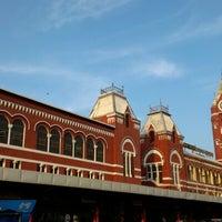Photo taken at Chennai Central Sub Urban Station by Raghavendran T. on 12/27/2012
