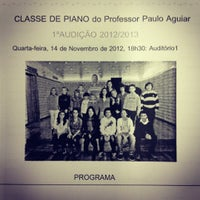 Photo taken at Escola de Música Nossa Senhora do Cabo by Paulo T. on 11/14/2012