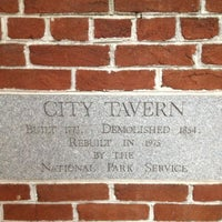 Photo taken at City Tavern by Abi R. on 9/27/2012
