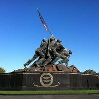 Photo taken at US Marine Corps War Memorial (Iwo Jima) by Scott H. on 10/22/2012