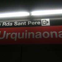 Photo taken at METRO Urquinaona by Princesa 8. on 10/30/2012