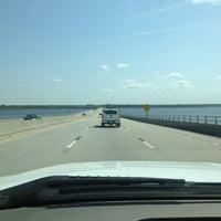 Photo taken at Neuse River Bridge by 🚜Big C. on 4/9/2013