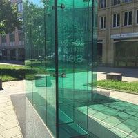 Photo taken at Kurt-Eisner-Denkmal by Florian on 5/8/2016