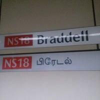 Photo taken at Braddell MRT Station (NS18) by RSD R. on 9/20/2012