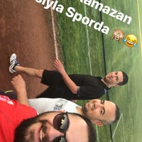 Photo taken at Mut İlçe Stadyumu by Osman Mutlu Ö. on 5/17/2018