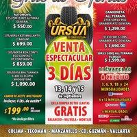 Photo taken at Ursua llantas y servicios by Rovic U. on 9/17/2012