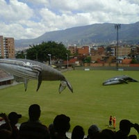 Photo taken at Polideportivo Sur Envigado by Miguel P. on 12/31/2012