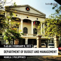 Photo taken at Department of Budget and Management by John Paul V. on 2/8/2013