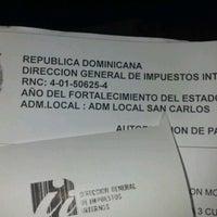 Photo taken at Sede Central Dirección General de Impuestos Internos (DGII) by Dilson G. on 12/19/2012