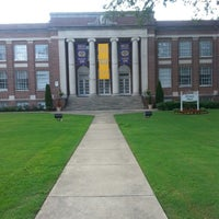 Photo taken at Brown Hall -Miles College Chapel by Karlos D. on 7/27/2013