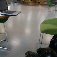 Photo taken at Saunalahden kirjasto by Hilkka Ranttila on 2/24/2014
