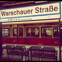 Photo taken at S Warschauer Straße by Nazila G. on 2/11/2013