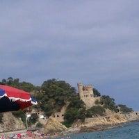 Photo taken at Platja de Lloret de Mar by Ice on 7/5/2013