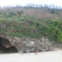 Photo taken at Bali Cliff Beach by Dwi A. on 10/15/2013