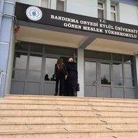 Photo taken at Gönen Meslek Yüksekokulu by Simge U. on 2/23/2018