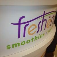 Photo taken at Freshen's Smoothies & Yogurt by Kala S. on 10/16/2012
