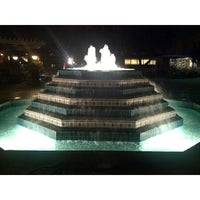 Photo taken at Fluor Fountain by Sam C. on 1/29/2014