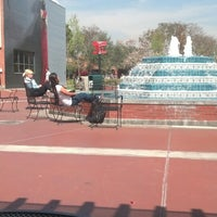 Photo taken at Fluor Fountain by Sam C. on 3/20/2014