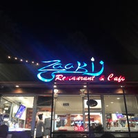 Photo taken at Zaaki Middle Eastern Restaurant and Hookah Cafe by E. M. on 6/19/2017