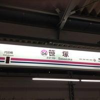 Photo taken at Sasazuka Station (KO04) by Peter N. on 6/28/2013