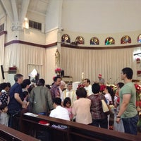 Photo taken at Gereja Santa Theresia by Mary Angelie D. on 12/25/2012