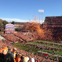 Photo taken at Frank Howard Field at Clemson Memorial Stadium by Stephanie on 11/18/2012