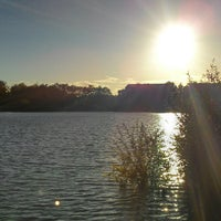 Photo taken at Fleet Pond by Barry P. on 10/12/2012