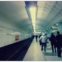 Photo taken at metro Bratislavskaya by Sined V. on 12/13/2012