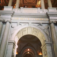 Photo taken at Library of Congress - John Adams Building by Bruno G. on 3/8/2014