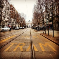 Photo taken at Corso Sempione by Tram M. on 4/7/2013
