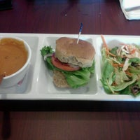 Photo taken at Crispers Fresh Salads, Soups and Sandwiches by Andrea R. on 9/20/2012