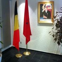 Photo taken at Consulat du Royaume du Maroc à Liège by Mouss D. on 2/20/2014