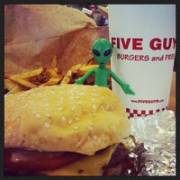 Photo taken at Five Guys by Steven D. on 3/16/2014