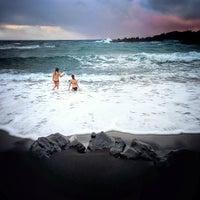 Photo taken at Black Sand Beach by Jofelson B. on 12/21/2012