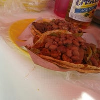 Photo taken at Los tacos de cecina de Miguel by Bombon S. on 2/16/2013