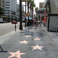 Photo taken at Hollywood Walk of Fame by Diego Maximiliano F. on 8/2/2013