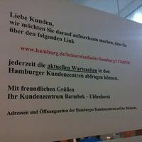 Photo taken at Kundenzentrum Barmbek-Uhlenhorst by Neni N. on 1/31/2013