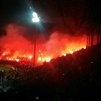 Photo taken at Stadion Kanjuruhan by Tigor S. on 11/28/2015